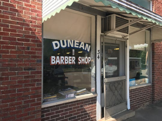 Dunean Barber Shop, the same since 1939.
