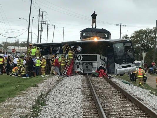 AP BUS TRAIN CRASH MISSISSIPPI A FILE USA MS