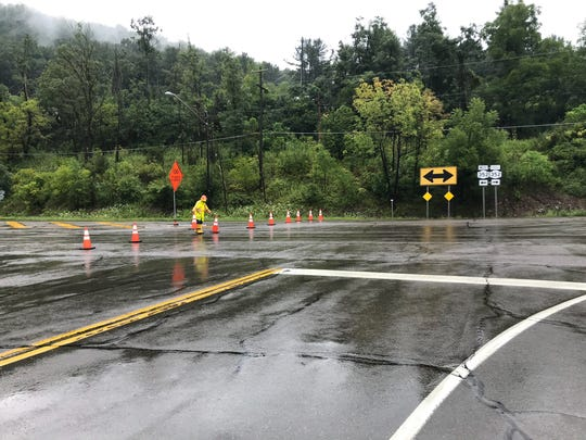 Route 352, near Big Flats, was closed due to flash