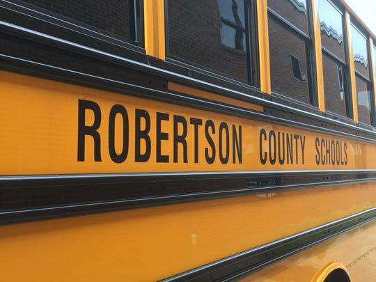 A Robertson County school bus.