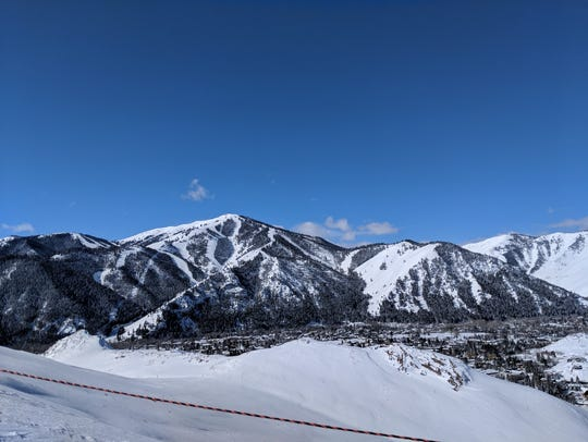 A view of Sun Valley, Idaho, after a snowstorm. Makes