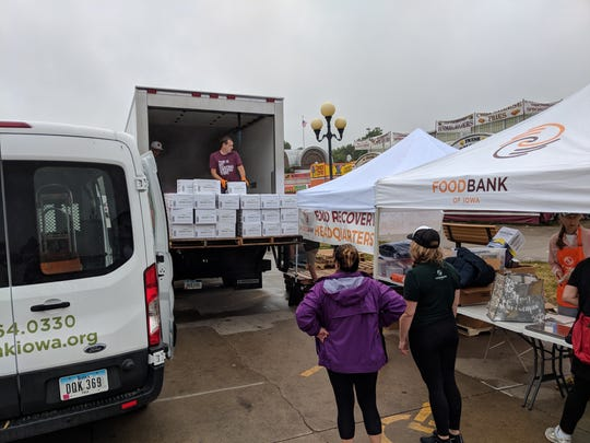 Leftover food from the Iowa State Fair is donated to