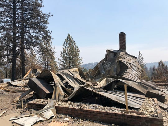 One of the nearly 1,100 Shasta County homes destroyed