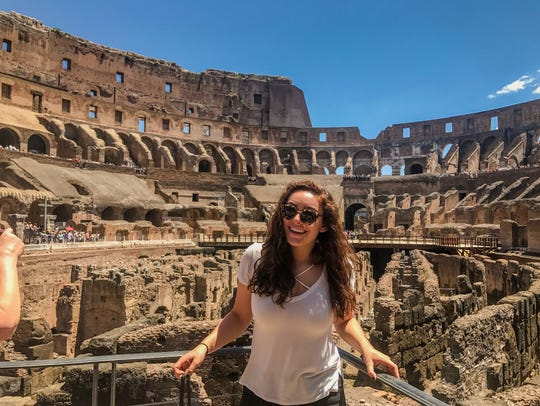 Allison Drew at the Coliseum in Italy