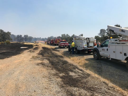 Because of the hot and dry conditions, Redding fire officials called out all of its resources to stop a fire off Quartz Hill Road in north Redding on Sunday.