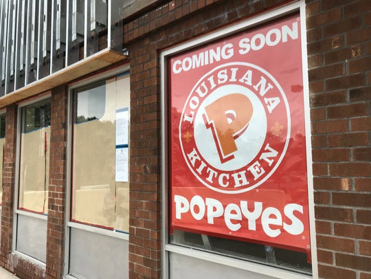 File photo of Popeyes restaurant that was slated to open last year at the Highridge Plaza in Yonkers.