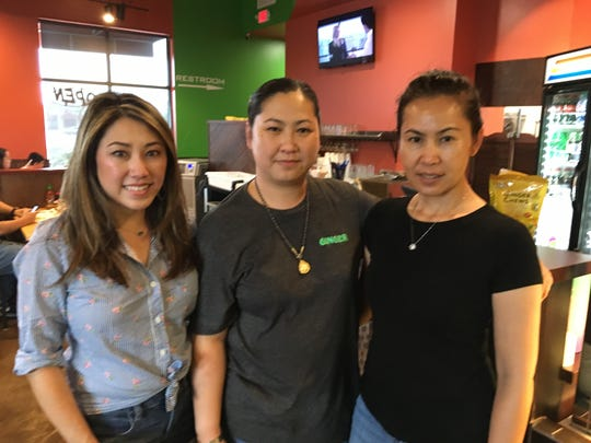 Ginger Thai Bistro is a family-run business, from left,