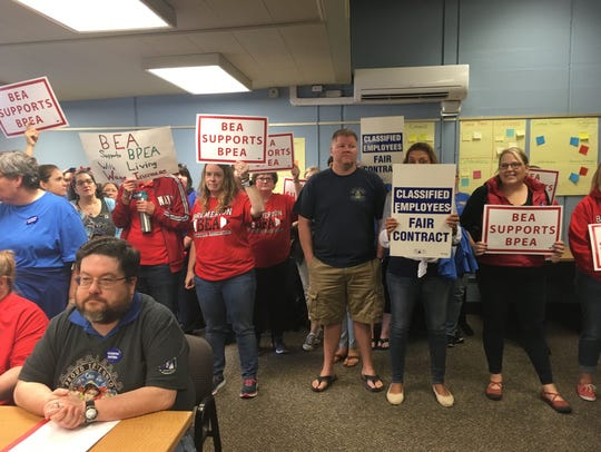 Classified employees and teachers who support their