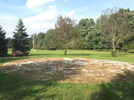 The labyrinth at St. Joseph Church in Hillsborough.