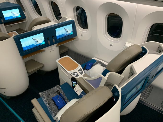 Air Tahiti Nui's revamped business-class cabin includes