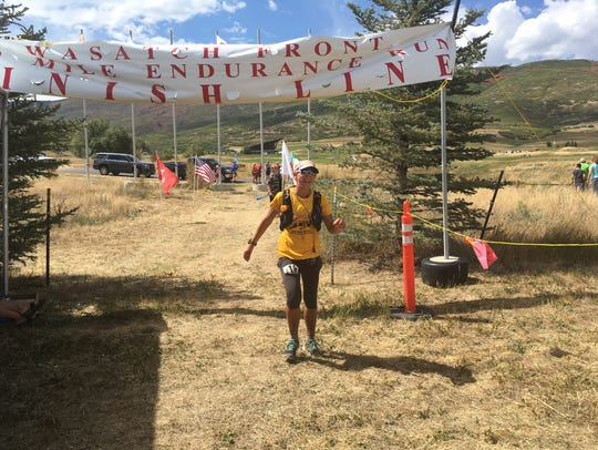 Constance Wannamaker finishes the Wasatch Front 100