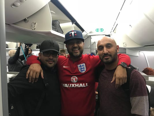 Titans fans British Airways
