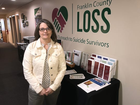 Denise Meine-Graham, lost her son to suicide four years ago, then joined Franklin County Local Outreach to Suicide Survivors. She worked with the Buckeye Firearms Association to develop suicide-prevention materials for gun owners.