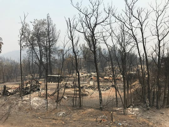 Some areas of the Carr Fire burned with such intensity