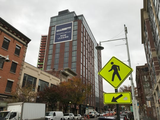 RXR Realty's new Sawyer Place complex on Main Street