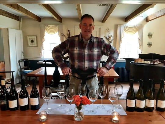 Founder Peter Leitner inside the Mount Salem Vineyards