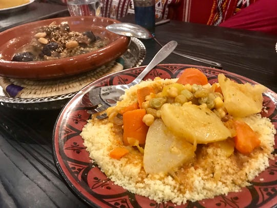 Lamb tajine and couscous at Casablanca.