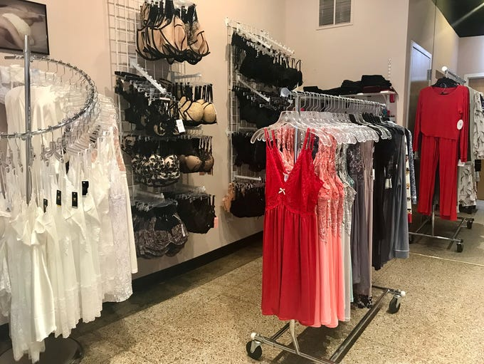 Lingerie options at Beneath It All.