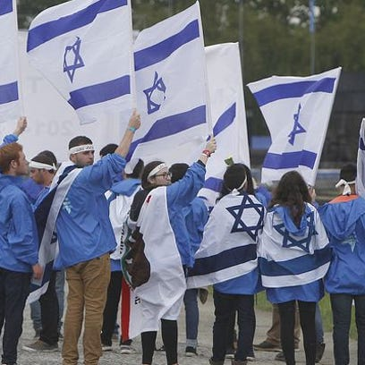 A report by the Anti-Defamation League found that anti-Semitic acts increased by 21 percent nationwide in 2014. In this photo, young jewish people from Israel and other countries march in silence between the two parts of Auschwitz-Birkenau, the Nazi German death camp, in an annual march of the living in Oswiecim, Poland, in 2014.