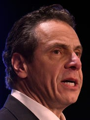 New York Gov. Andrew Cuomo delivered his state of the state address at the Empire State Plaza Convention Center on Wednesday, Jan. 3, 2018, in Albany, N.Y.