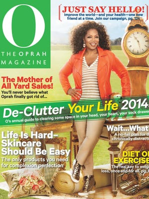 Oprah de-clutters in the March issue of 'O, The Oprah Magazine,' out Feb. 18, 2014.