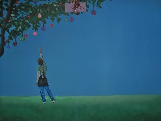 Art by Darrell Hagan is on display in St. Cloud.