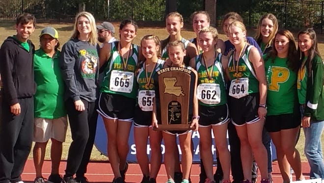 The Plainview girls won the Class C cross country championship in November, but are currently raising money for championship rings.