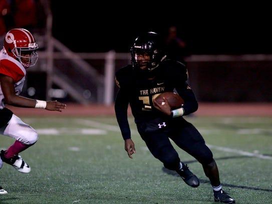 October 27, 2017 - Whitehaven quarterback Vincent Guy