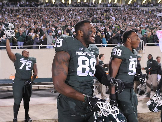 Shilique Calhoun, left, was a dominating personality