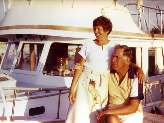 Fred Meserall and his wife, Betty, fondly recall days like these, on their houseboat in Marathon, Florida.