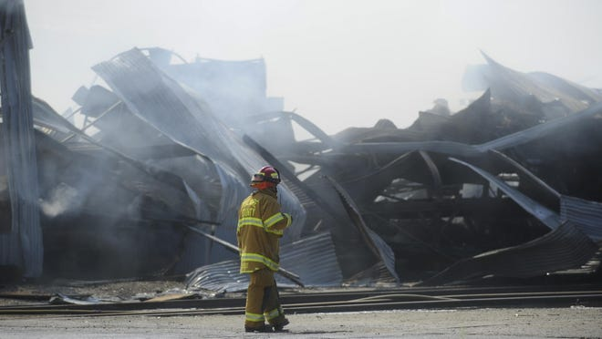 Tulare County assisted Lindsay Fire Department in putting out a packing house fire.