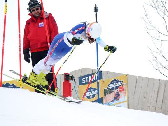 Brighton's Maddie Carrico won the slalom and giant