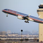 An American Airlines aircraft takes off from Dallas-Fort Worth International Airport.