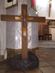 Cross created by Our Lady of Solitude Catholic church