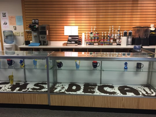 A student-run coffee shop inside Carmel High School.