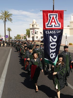 """To attract potential students, the University of Arizona touts research prowess, leadership and scholarship. """"In areas as diverse as astronomy, medicine, optics, entrepreneurship, and dance, UA faculty and programs are among the nation's best,"""" the school's rankings webpage says."""