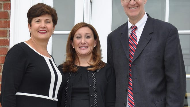 Democratic candidates for the Wyckoff Township Committee Carla Pappalardo, Melissa Rubenstein and Brian Scanlan.