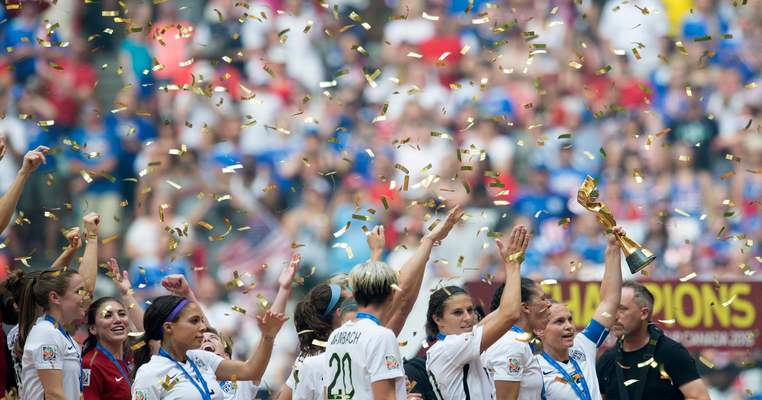 18fb0ab1c0f Lloyd hat trick leads US over Japan 5-2 for World Cup title