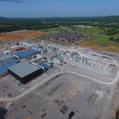 Construction is underway on Rockvale High School, southwest