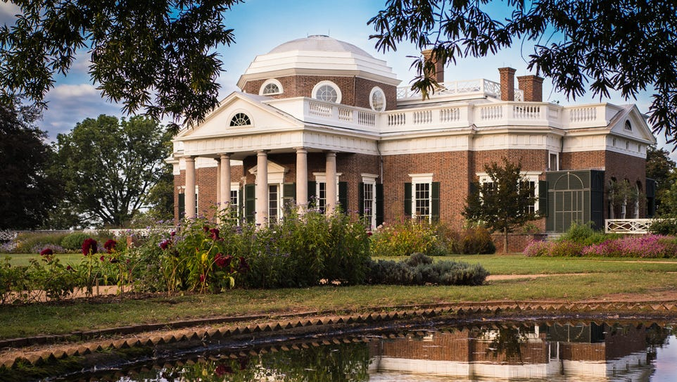 1. Monticello, Charlottesville, Va. One of those step-back-in-time attractions, Monticello is a can't-miss spot on any tour.
