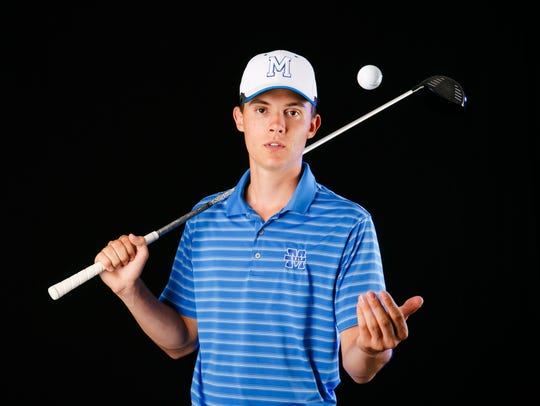 Joel Dutcher, a McNary High School athlete, is nominated for boys golf player of the year for the Statesman Journal Mid-Valley Sports Award. Photographed at the Statesman Journal in Salem on Wednesday, May 16, 2018.