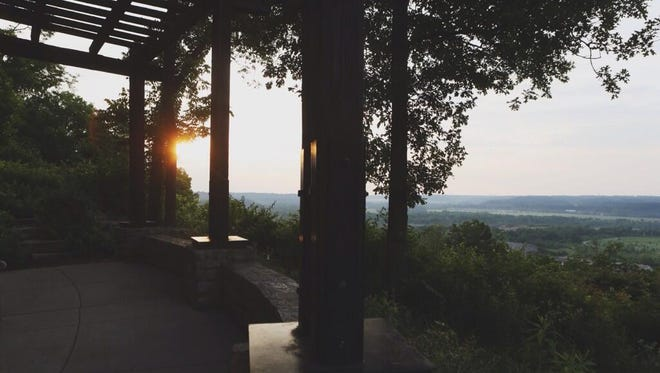 Morning view from the Heekin Overlook in Ault Park on Monday.