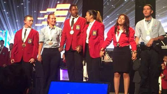 Joshua Brown won gold in criminal justice at the 2017 SkillsUSA National Leadership Conference in Lexington, Ky.