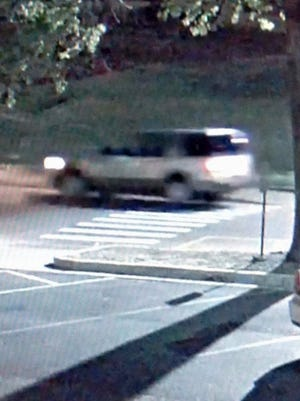 This is a surveillance image of the suspected vehicle used during an alleged sexual assault on the Ole Miss campus on Sept 17.