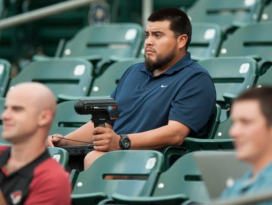 Montgomery Biscuits pitcher Mike Franco tracks pitch