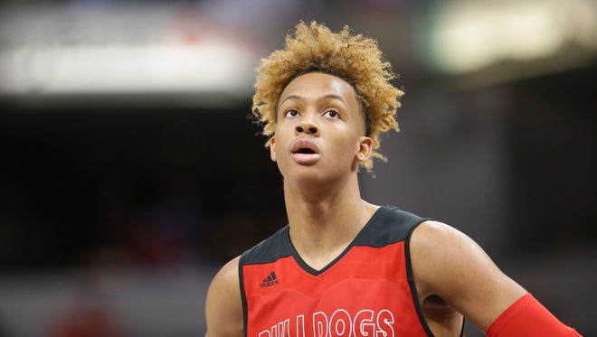 Romeo Langford finished his high school career in fourth place on the all-time Indiana state scoring list, with 3,002 points.