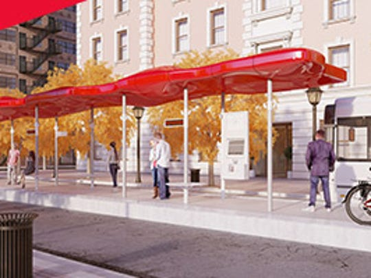 This is a nominee for the Red Line station design.