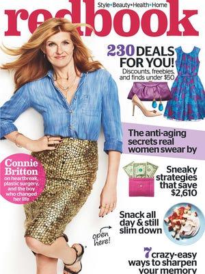 """Connie Britton on the cover of """"Redbook"""" magazine."""