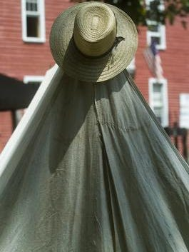 A hat sits on top of a tent at a Civil War encampment at a  previous Country Day at Kirby's Mill. The annual event is July 9.