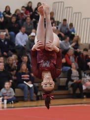 Emma Taylor will compete in all four events Saturday. The McCutcheon junior advanced to state in vault, floor and beam a year ago.
